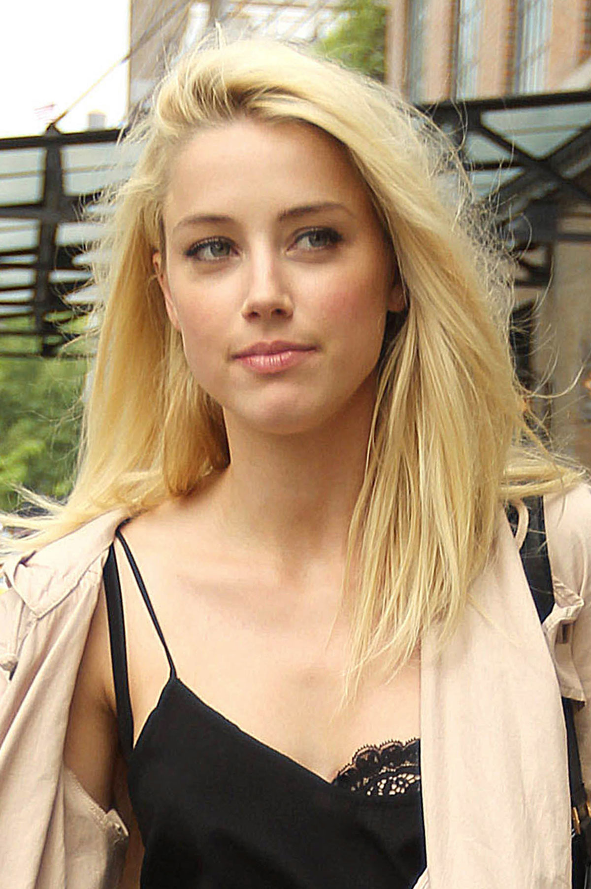 AMBER HEARD Out and About in New York - HawtCelebs ... Amber Heard