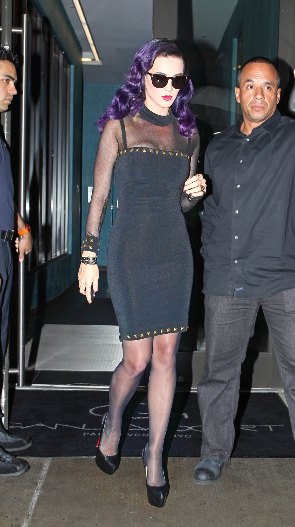 Katy Perry In A Black Velvet Dress Iin New York Hawtcelebs