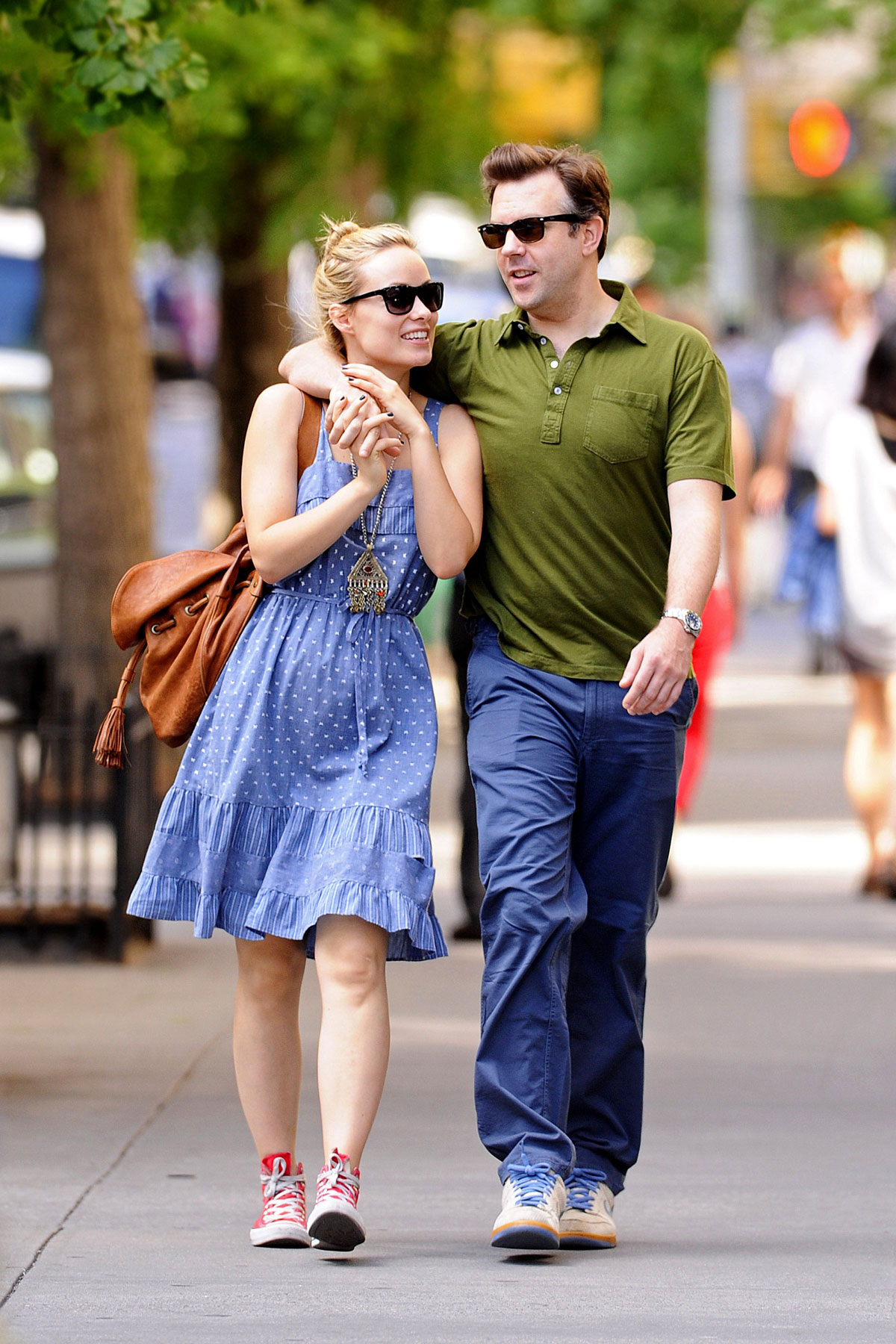 OLIVIA WILDE and Jason Sudeikis Out and About in New York ...
