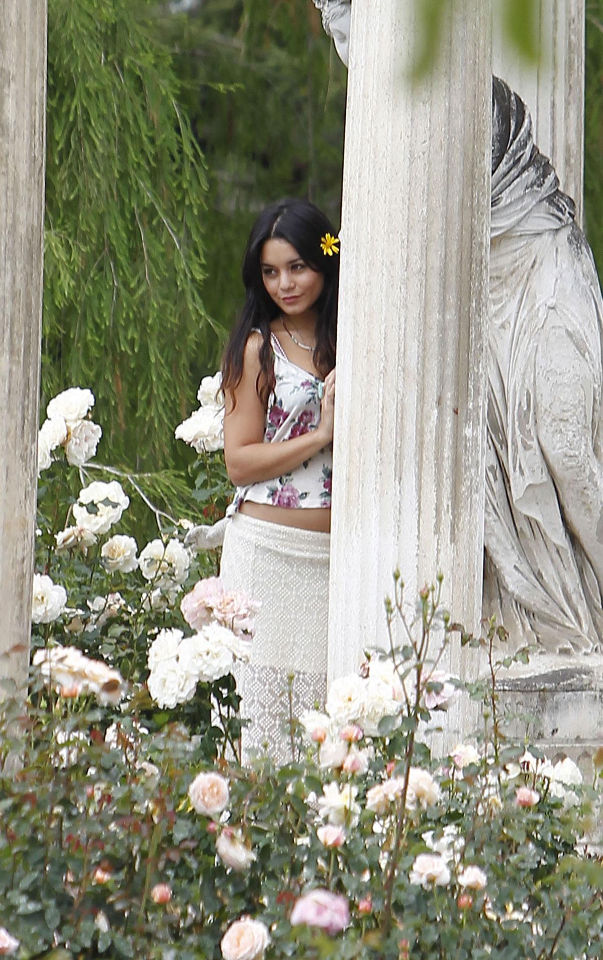 Vanessa Hudgens At The Huntington Library Botanical Gardens In San