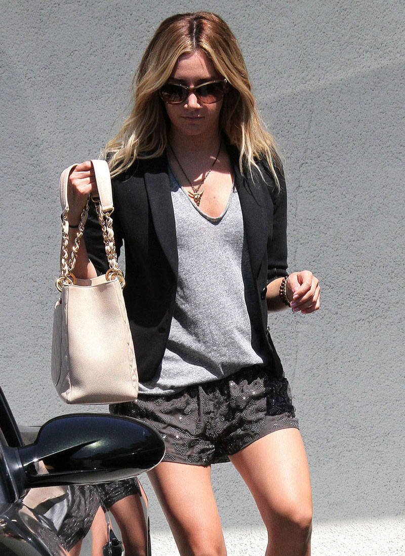 Ashley Tisdale Leggy Candids Out And About In Studio City