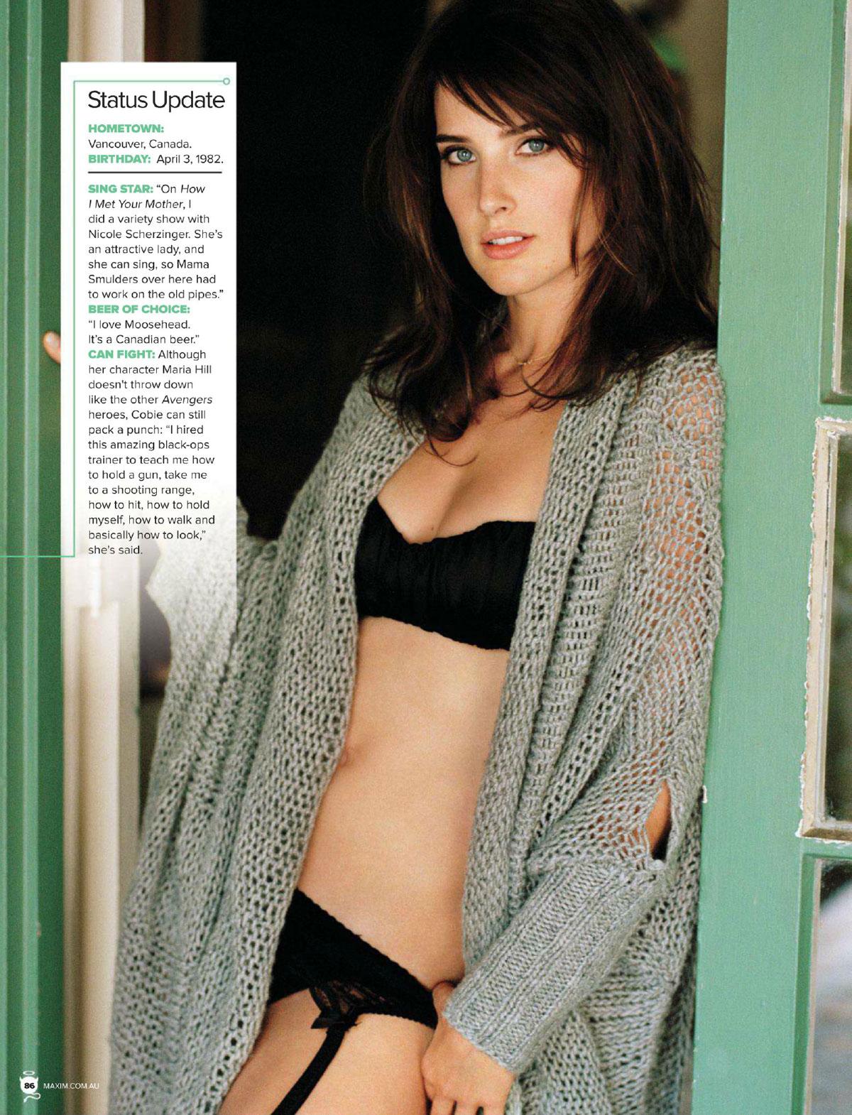 In MagazineAustralia Cobie 2012 Issue Maxim July Smulders cqA3RjS45L