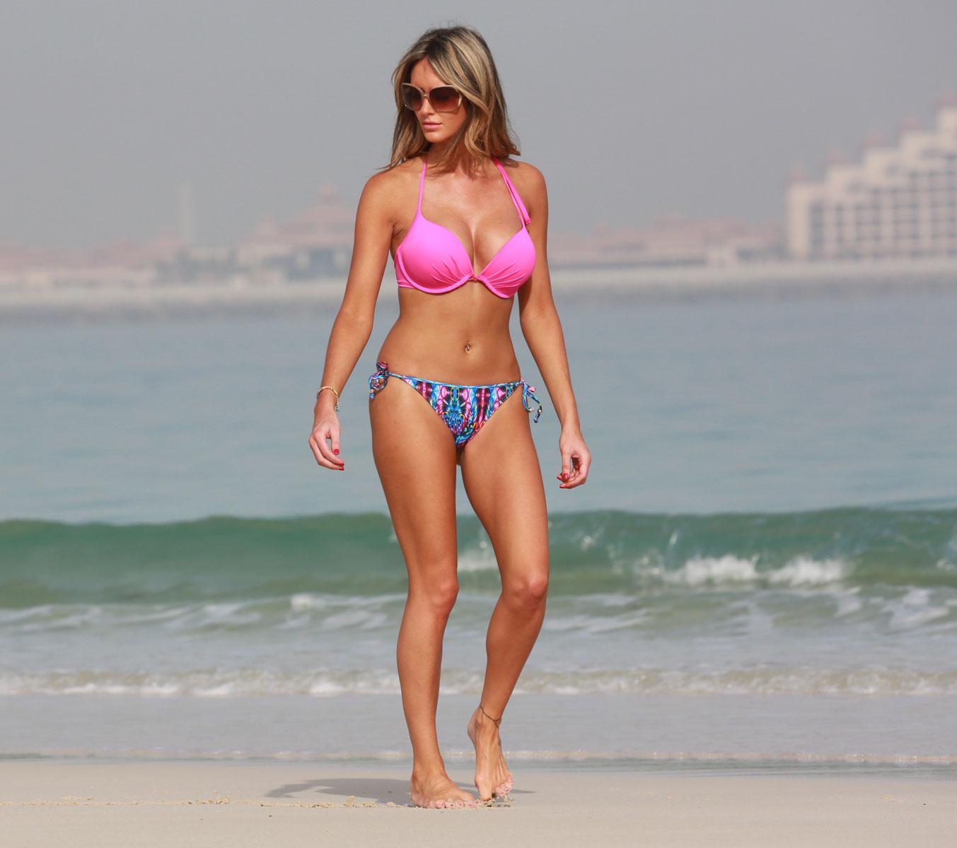 georgina dorsett in bikini on the beach in dubai   hawtcelebs   hawtcelebs