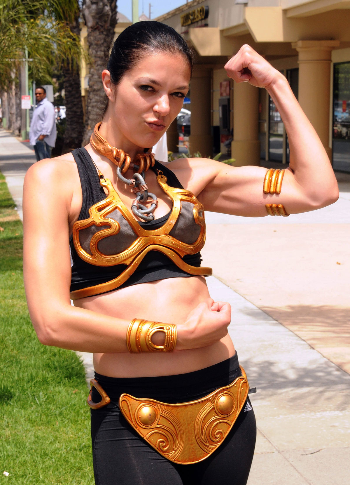 ADRIANNE CURRY at Course of The Force Olympic Relay Run