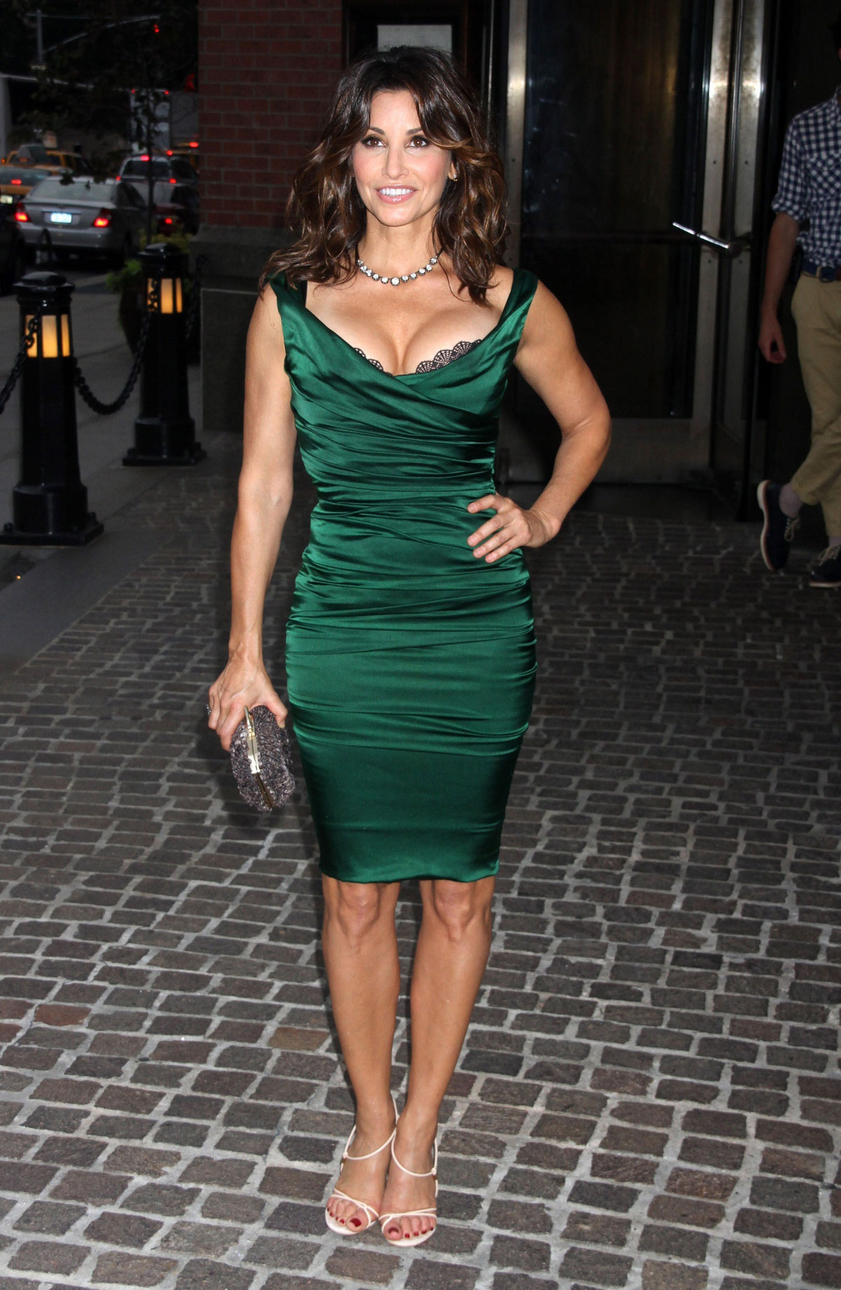 Gina Gershon wears  (Midi Dress )
