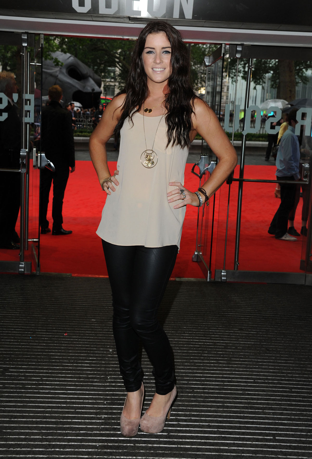 lucie jones at the dark knight rises premiere in london
