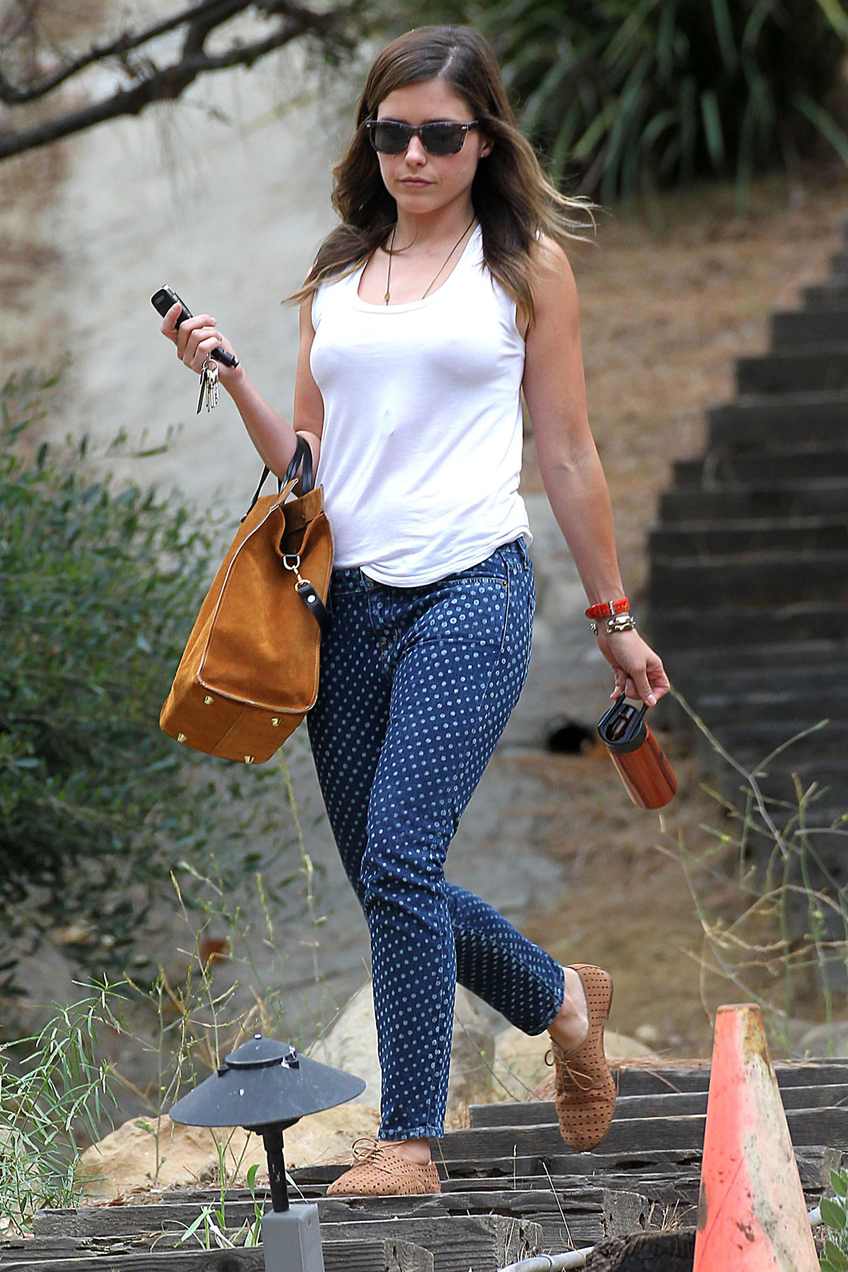 Sophia Bush Leaves A Friends House In Los Angeles Hawtcelebs