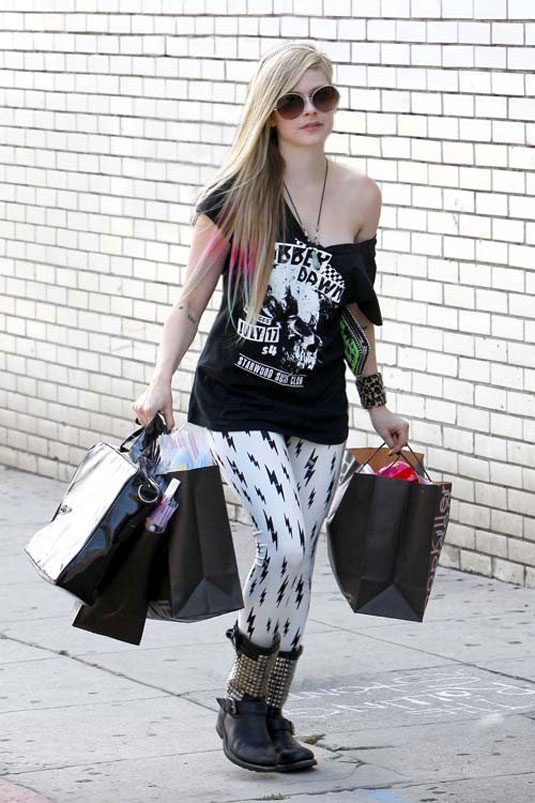 AVRIL LAVIGNE Out Shopping in Hollywood - HawtCelebs