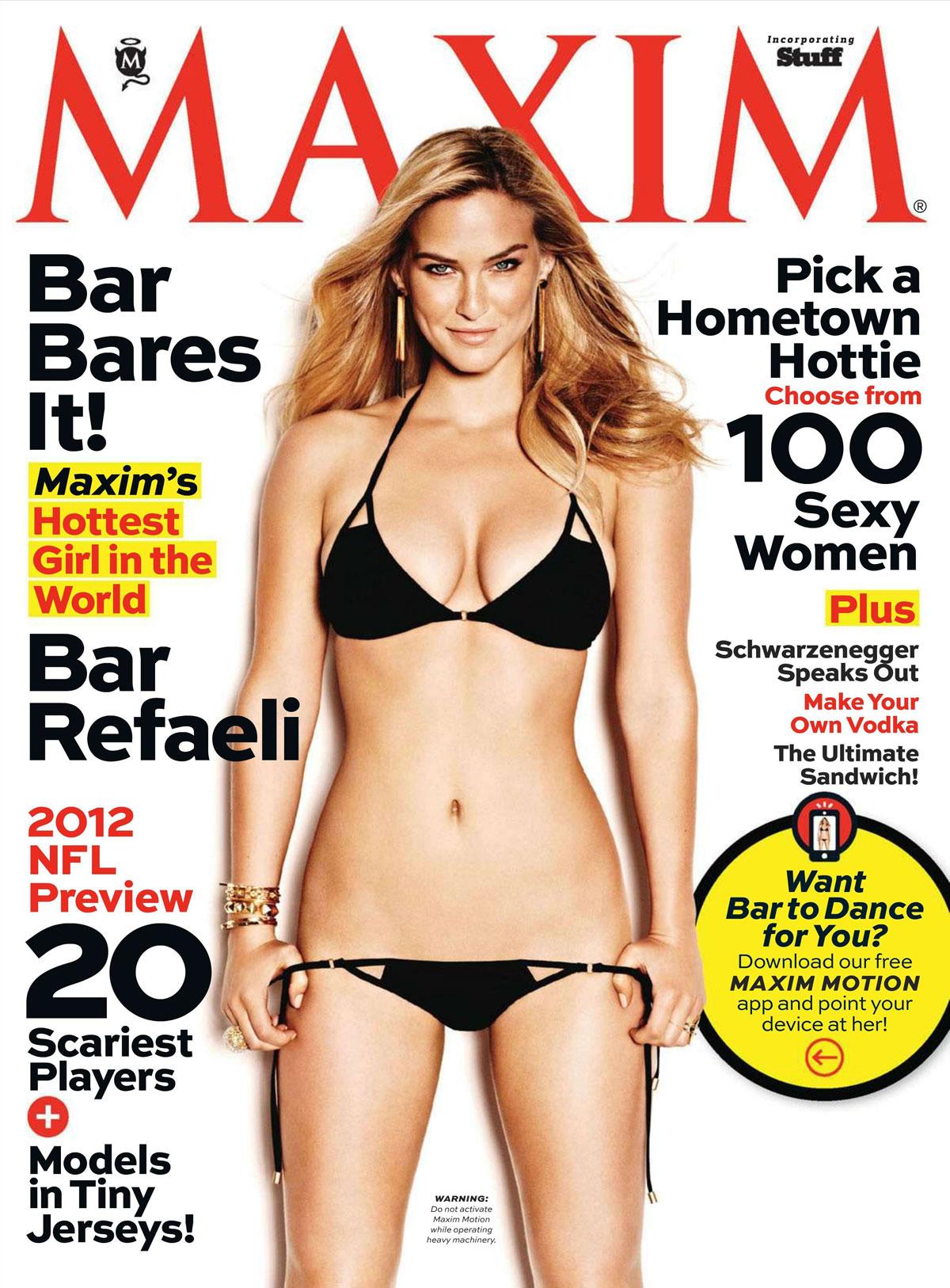 bar refaeli in maxim magazine september 2012 issue