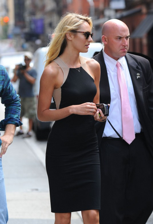 CANDICE SWANEPOEL in Tight Dress Out and About in Soho