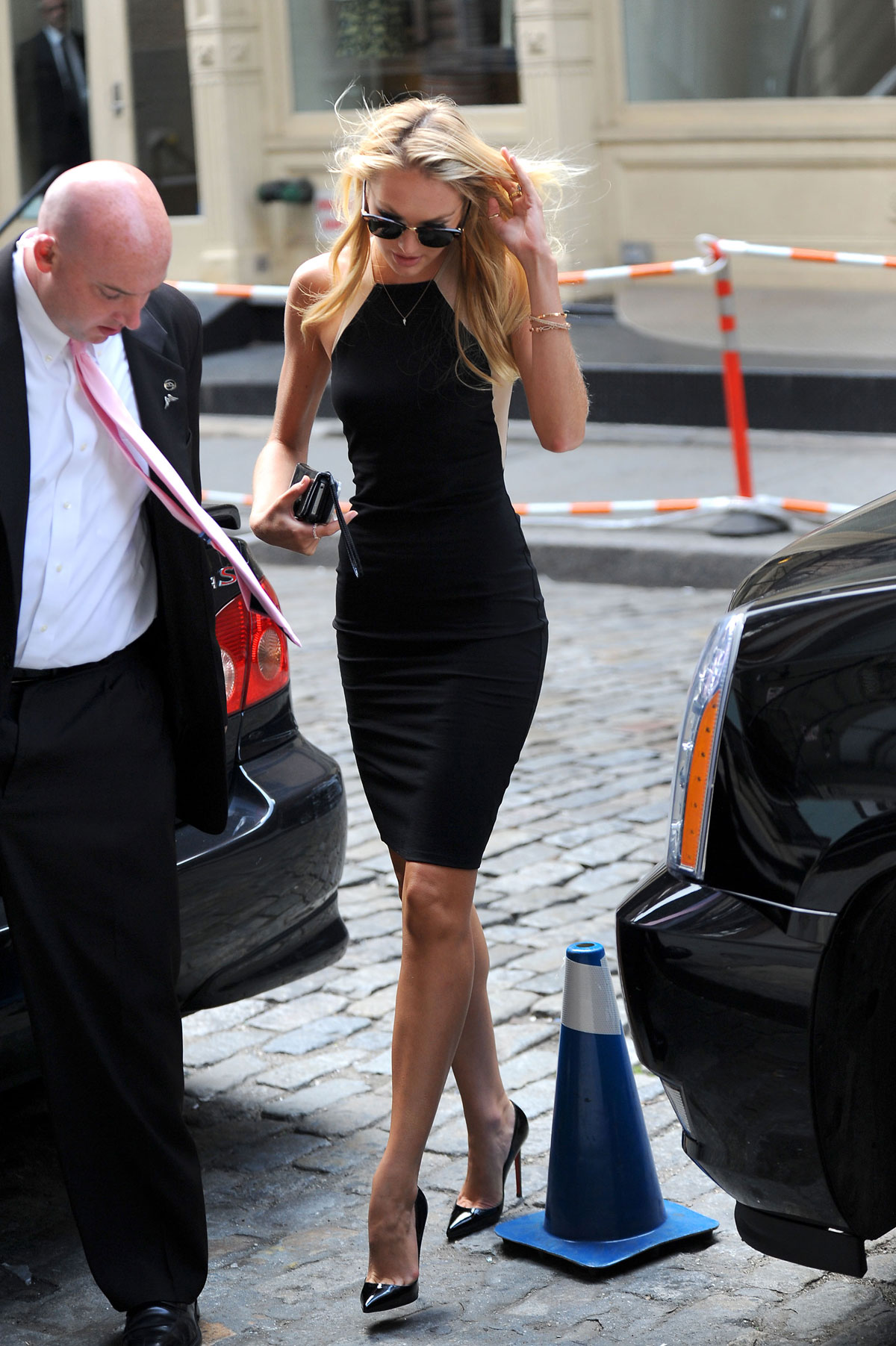 Candice Swanepoel In Tight Black Dress Hawtcelebs