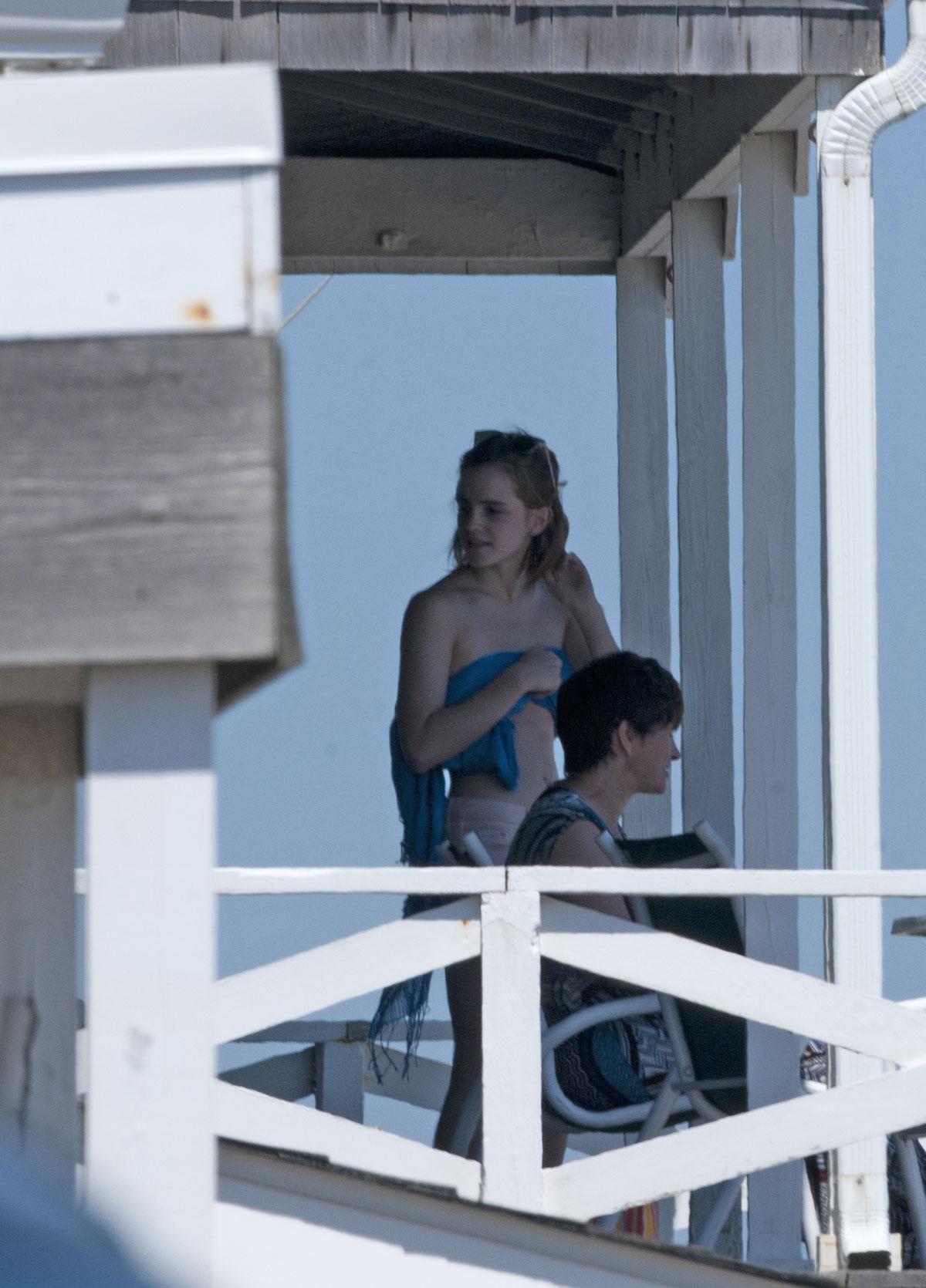 Emma Watson In Undies Sunbathing In The Hamptons Hawtcelebs