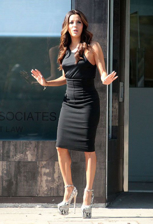 Eva Longoria On The Set Of Ready For Love In Los Angeles
