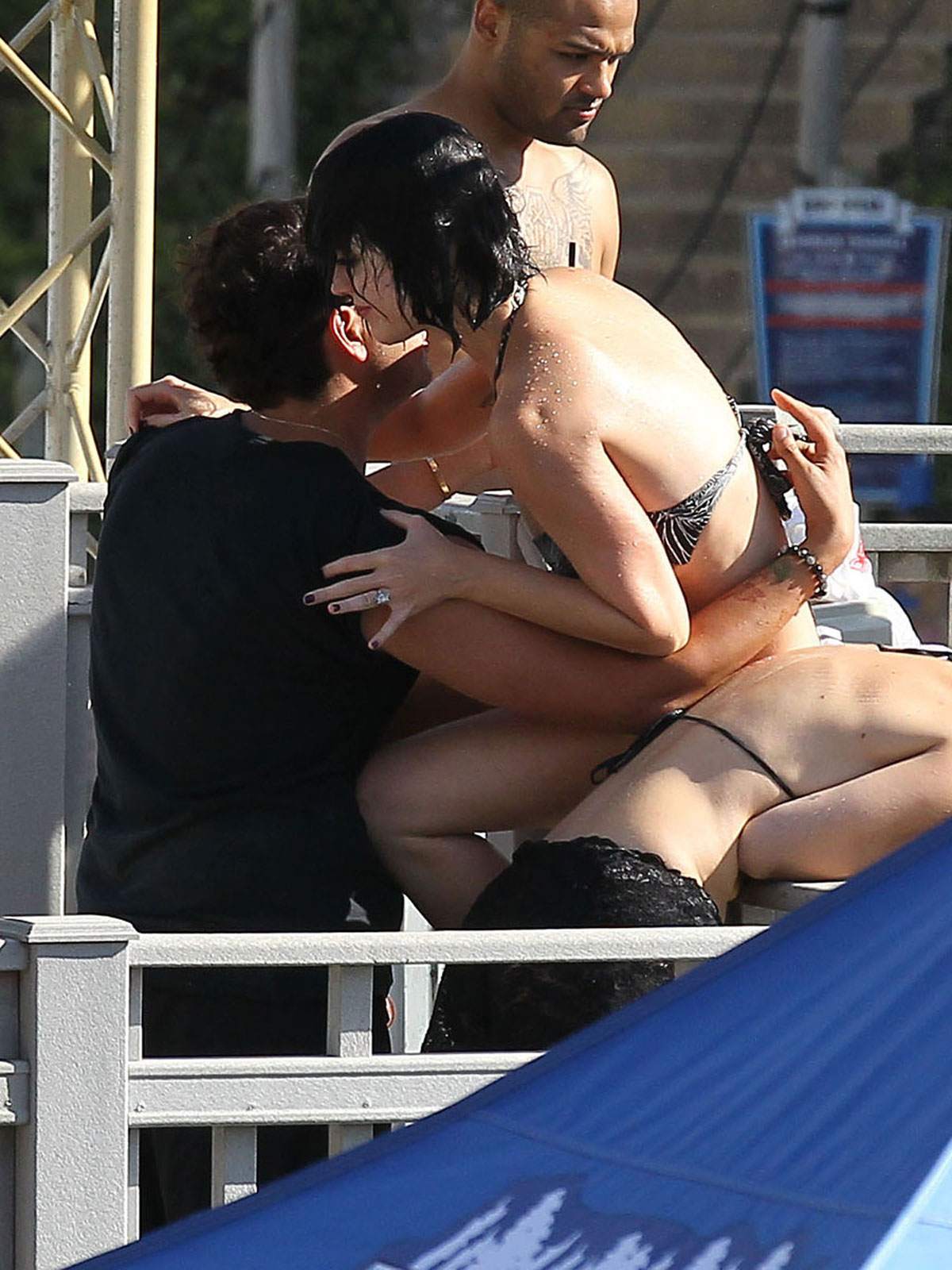 KATY PERRY Bikini Bottoms Fall Down at the Water Park in San Dimas