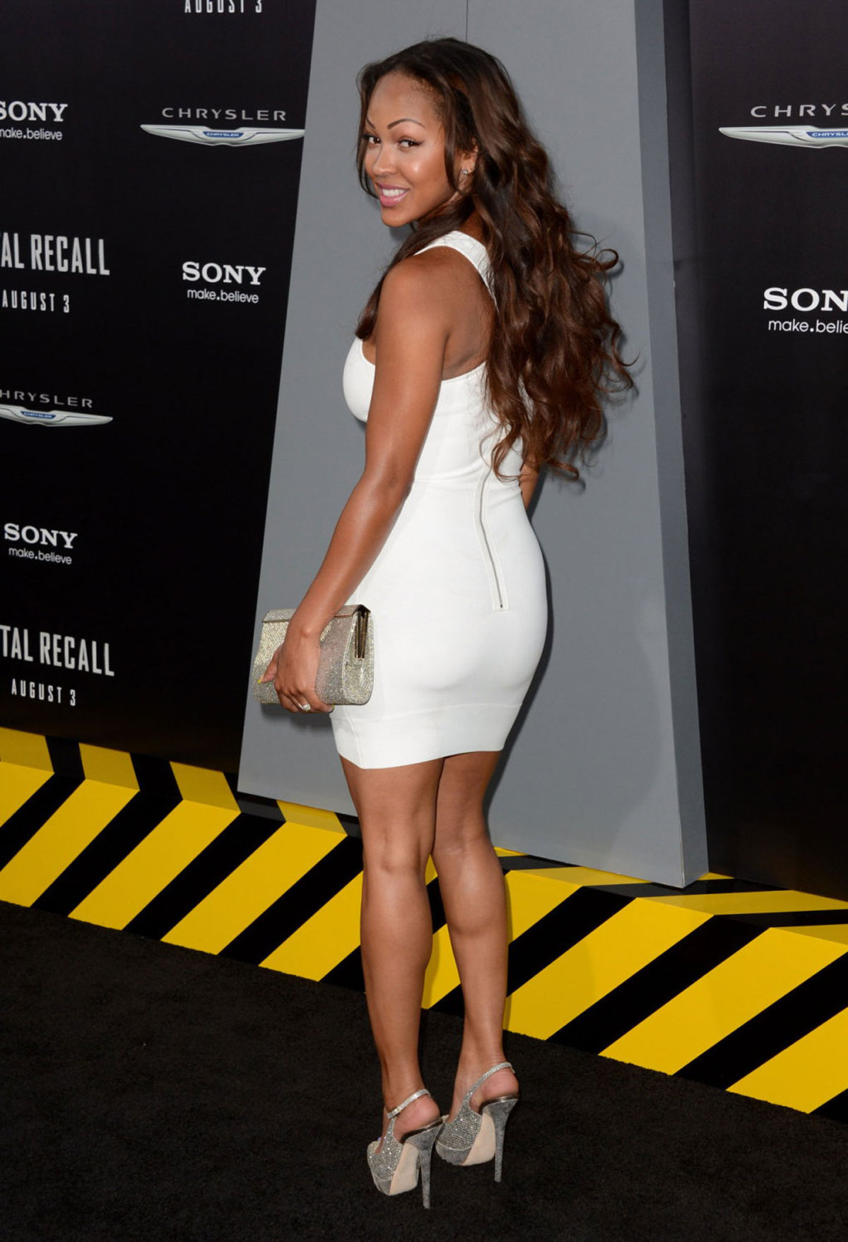 Meagan Good At Total Recall Premiere In Hollywood
