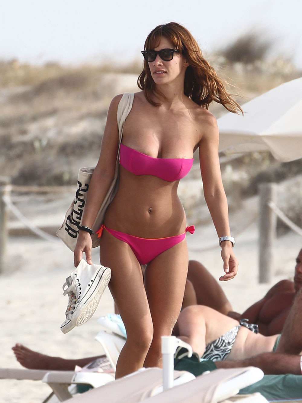 MELITA TONIOLO in Bikini on the Beach in Formentera ...