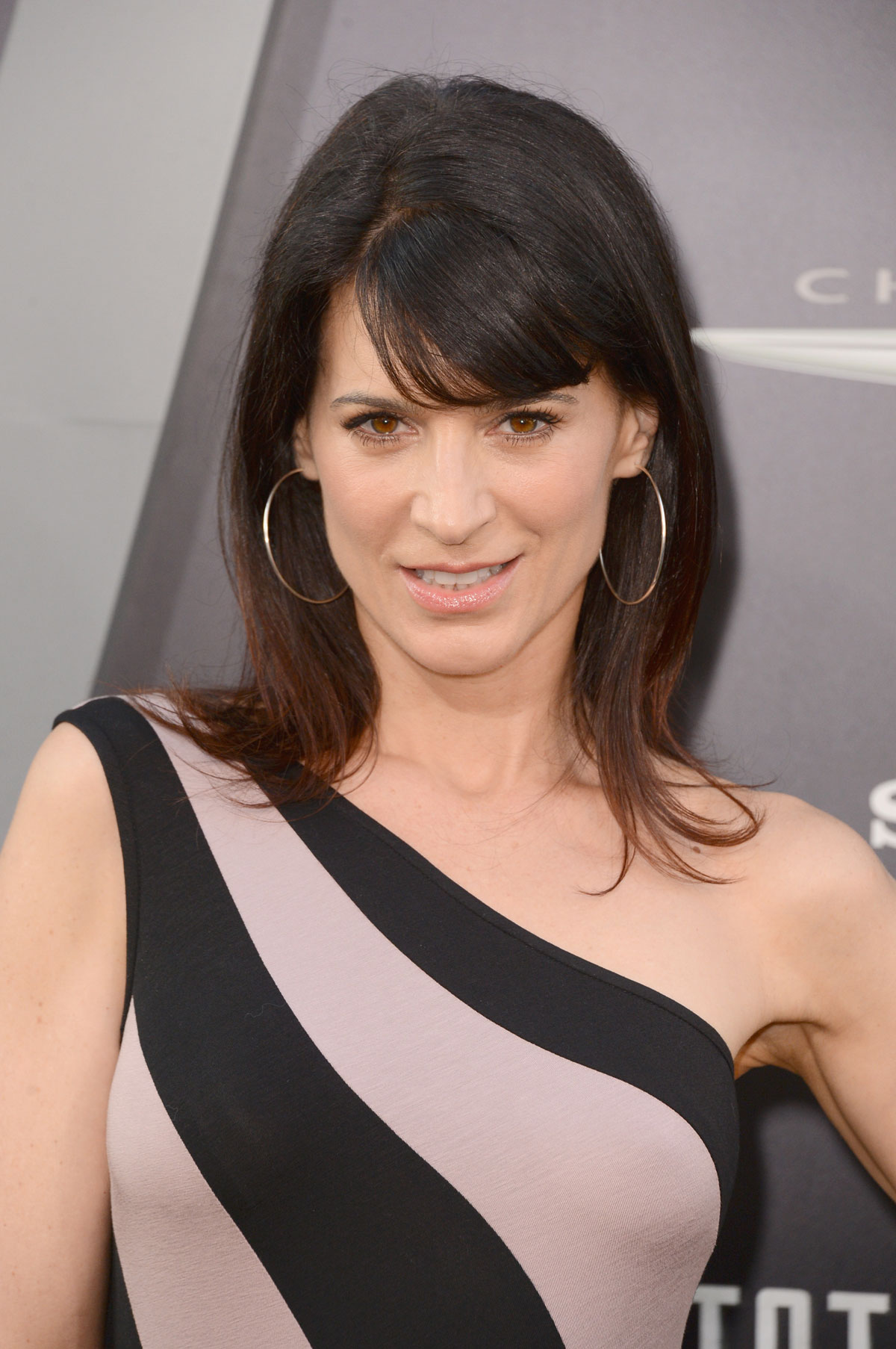 The 46-year old daughter of father (?) and mother(?), 166 cm tall Perrey Reeves in 2017 photo