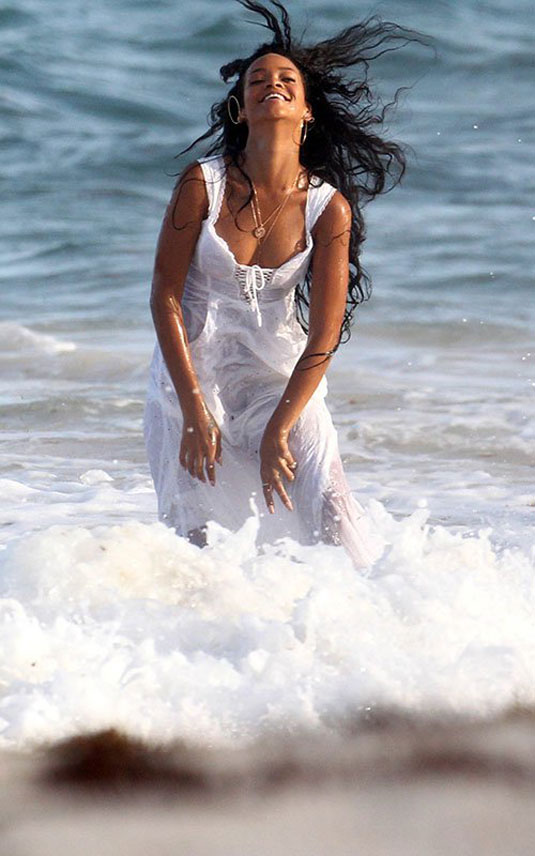 Rihanna Filming An Ad On The Beach In Barbados Hawtcelebs