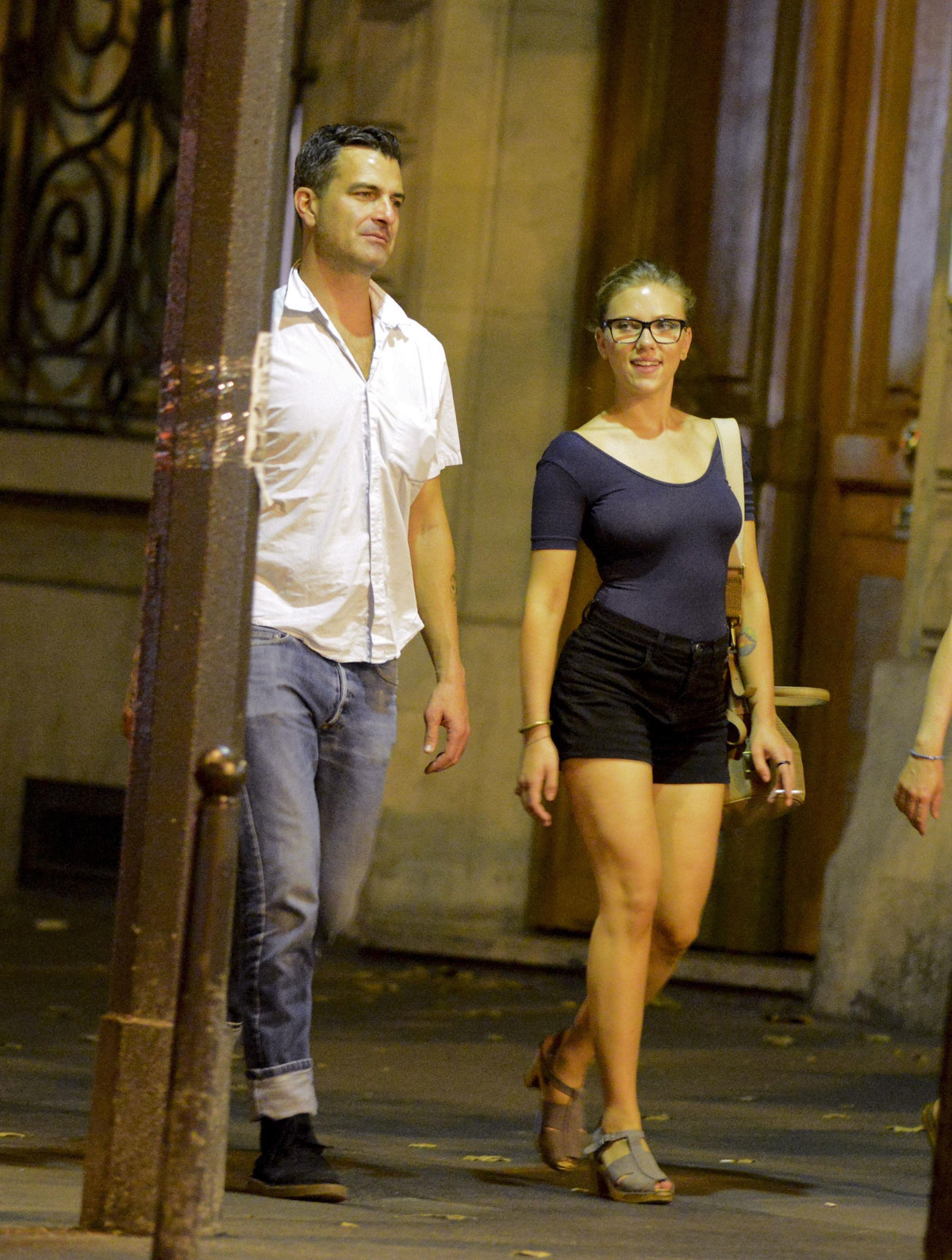 Scarlett Johansson In Shorts Out And About In Paris