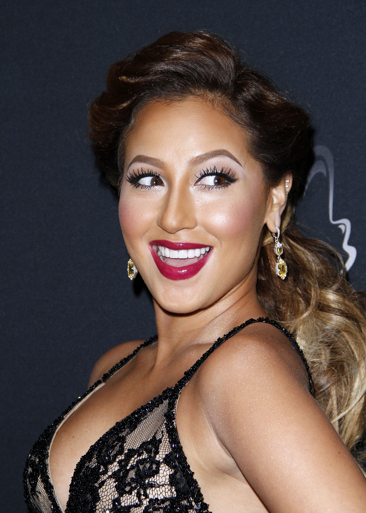 ADRIENNE BAILON at Vanidades Icons Of Style Gala in New York