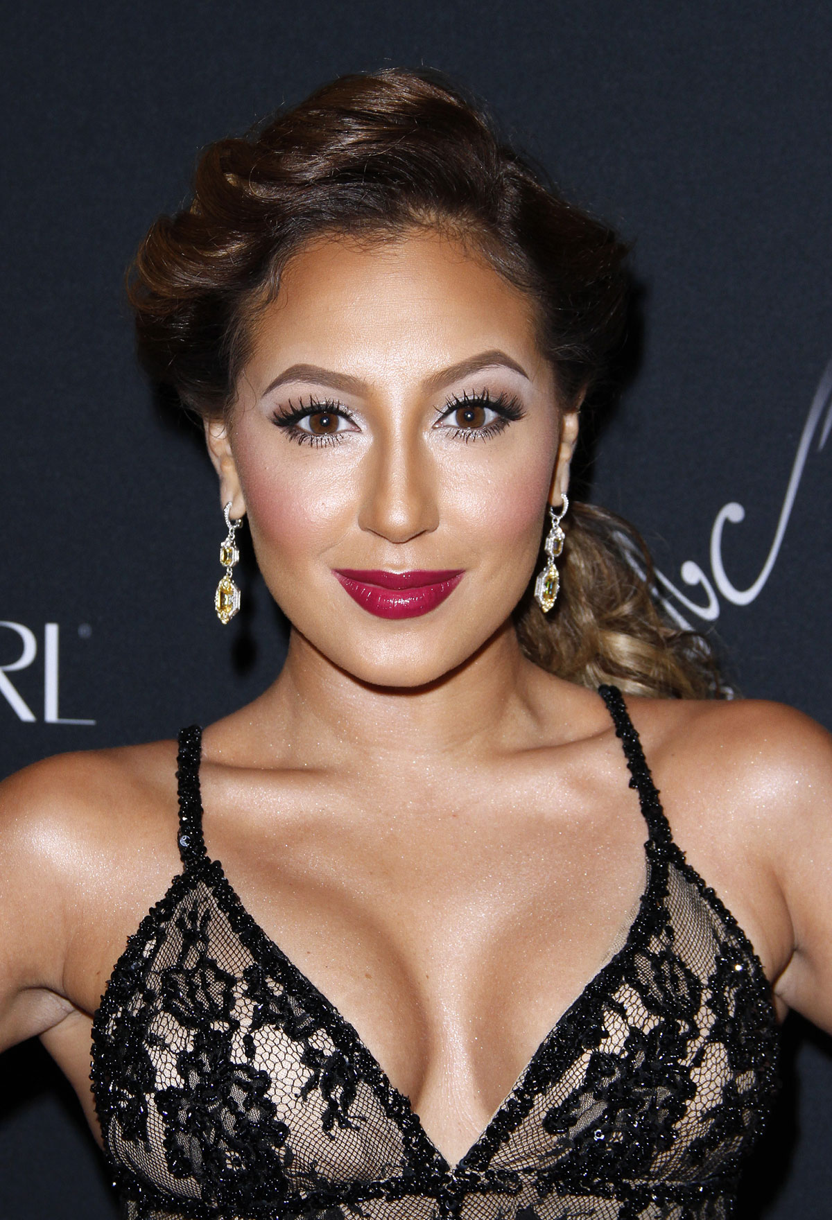 Adrienne Bailon at American Heart Associations Go Red for