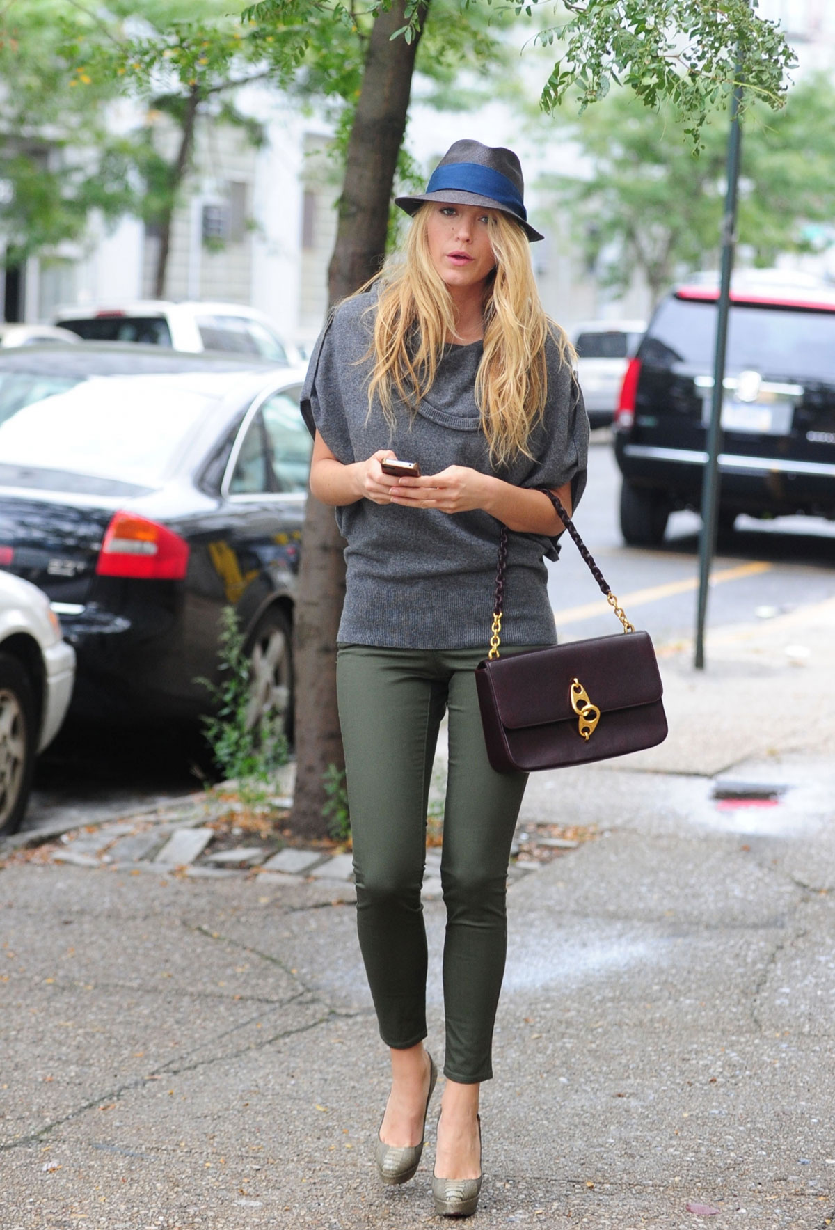 BLAKE LIVELY in Tight Pants Out and About in New York ...