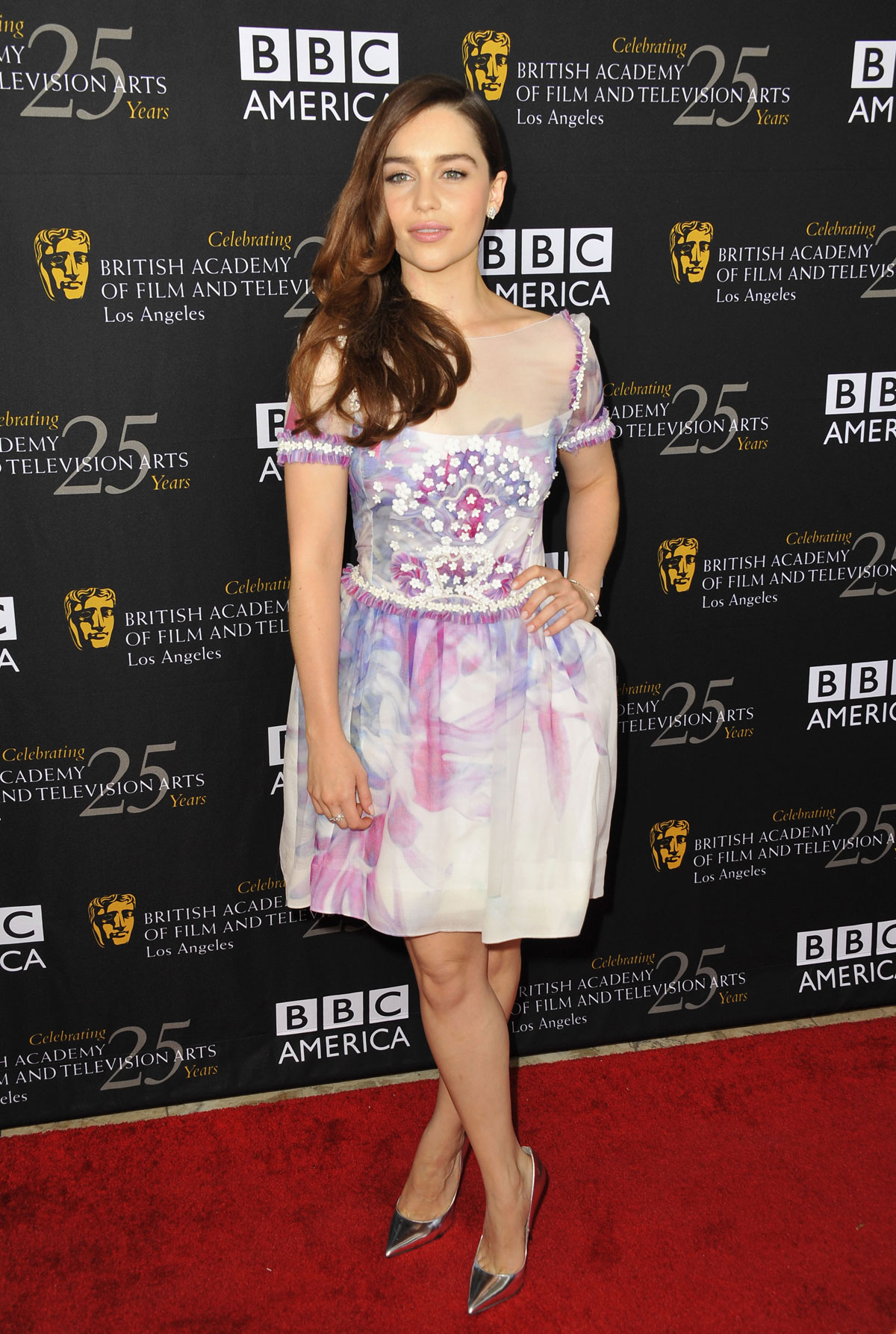 emilia clarke at bafta la tv tea 2012 i hollywood hawtcelebs