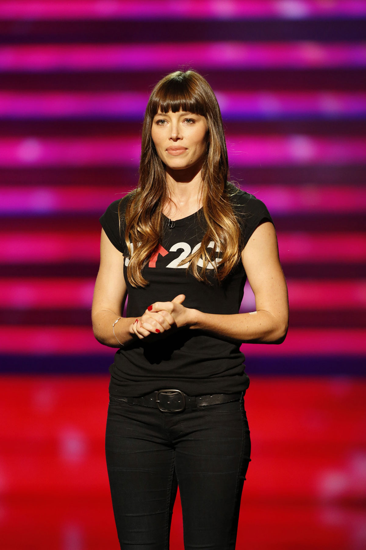 JESSICA BIEL At The Stand Up To Cancer Event In Los