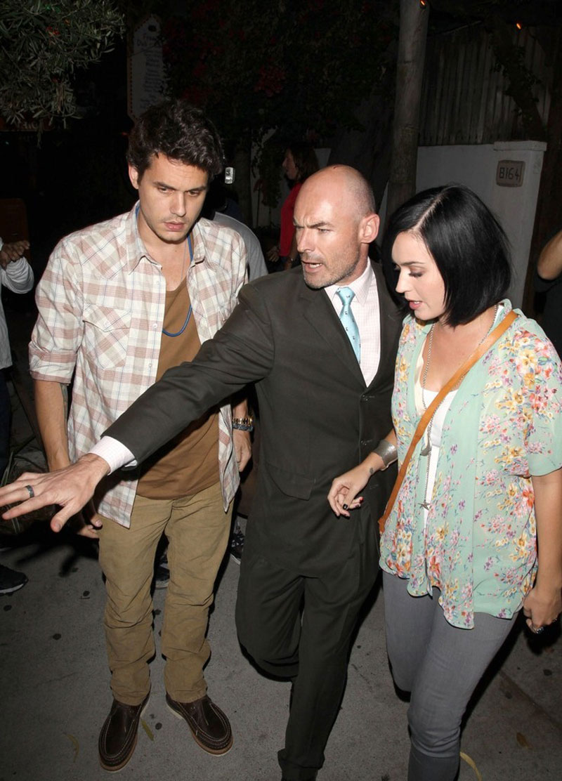 KATY PERRY and John Mayer Leaves the Little Door Restaurant in Los ...