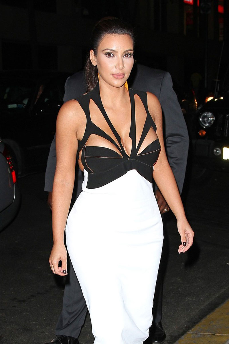 Kim kardashian in tight dress out and about in new york 11