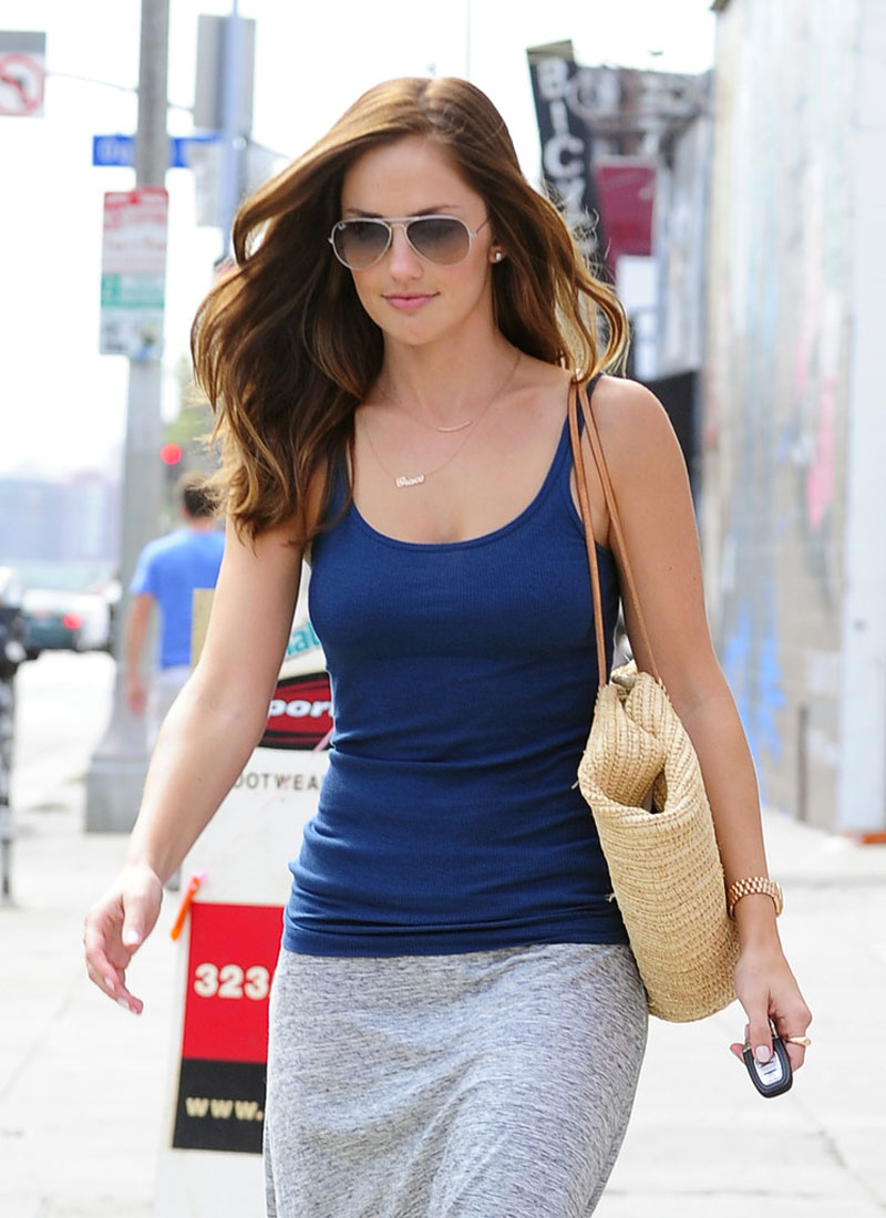 minka kelly in tank top out shopping in west hollywood