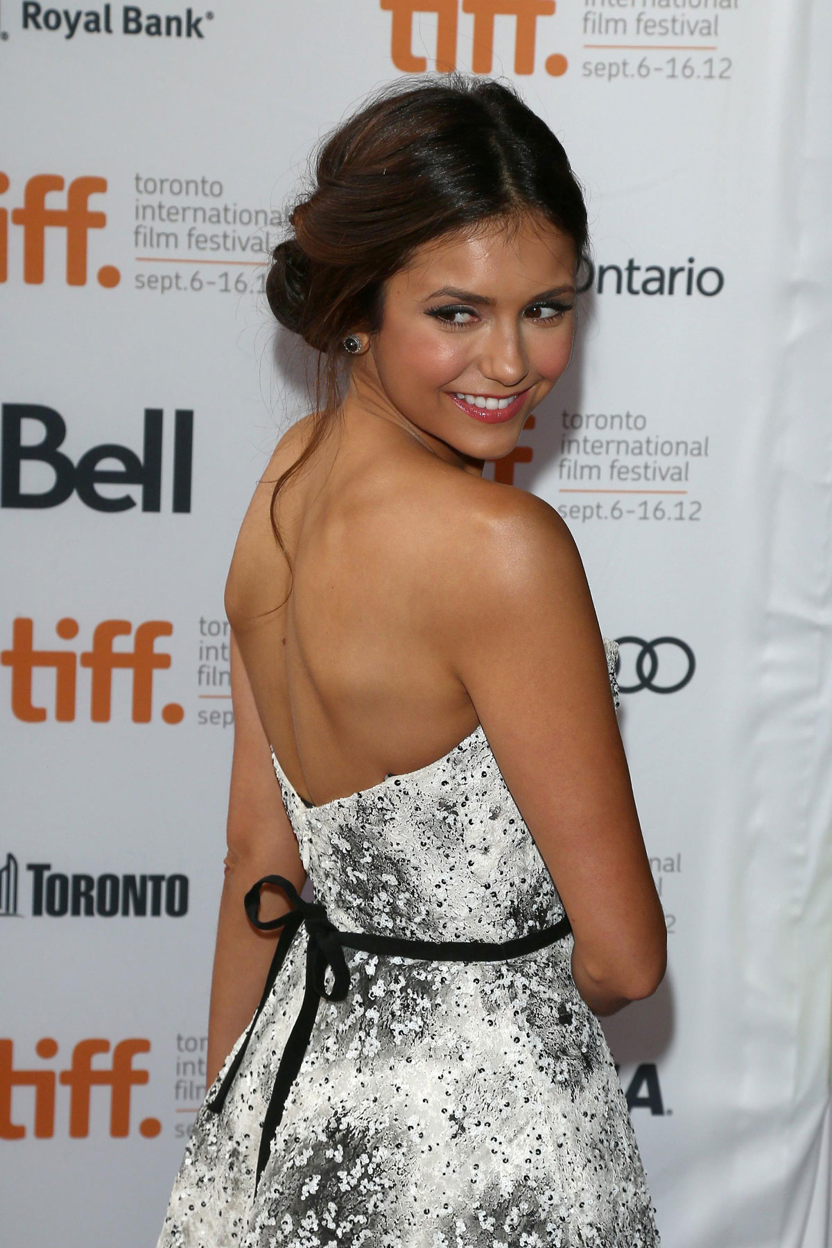 nina dobrev at the perks of being a wallflower premiere at toronto film fest hawtcelebs. Black Bedroom Furniture Sets. Home Design Ideas