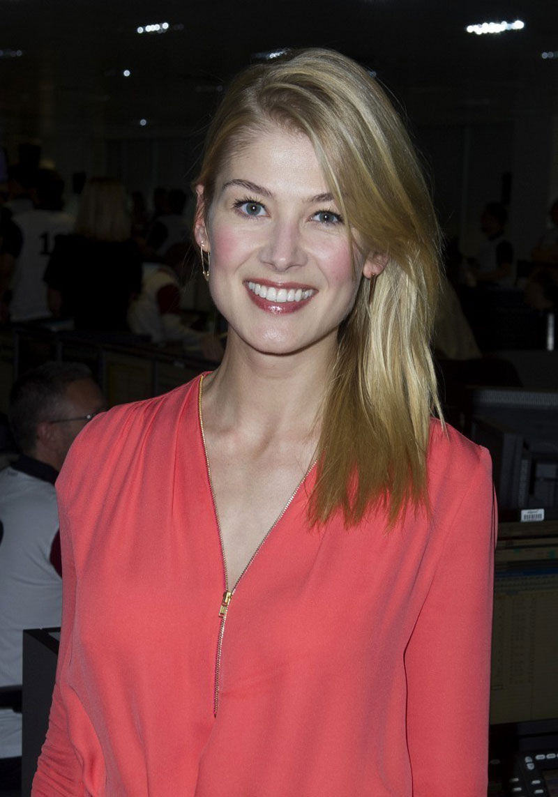 ROSAMUND PIKE at Annual BGC Charity Day at BGC Partners in ...