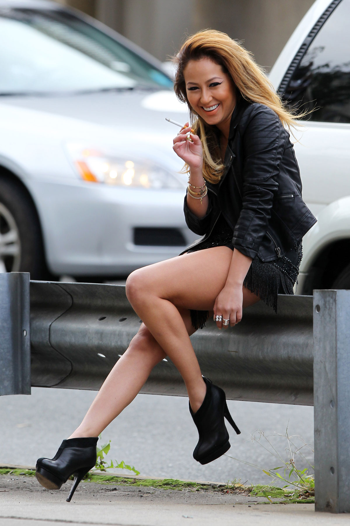 ADRIENNE BAILON at a Photoshoot in New York - HawtCelebs