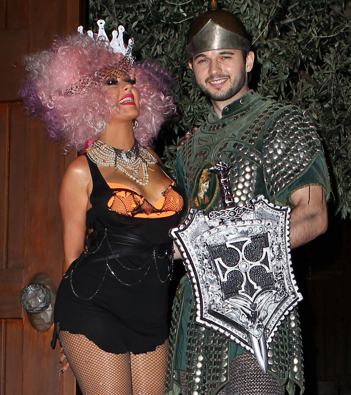 CHRISTINA AGUILERA at Halloween Party at Her Home in Beverly Hills ...