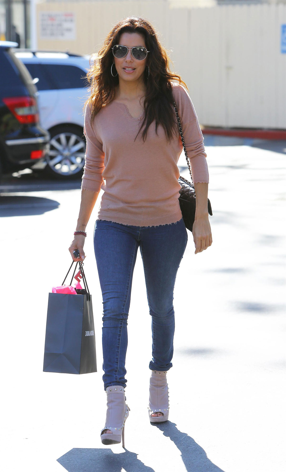 EVA LONGORIA in Tight Jeans Out an About in West Hollywood