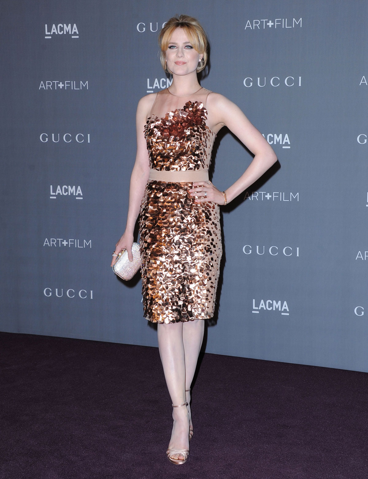 EVAN RACHEL WOOD at LACMA Art and Gala in Los Angeles