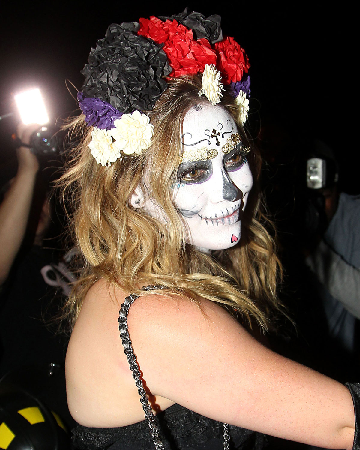 HILARY DUFF Arriving at Halloween Party in Beverly Hills ...