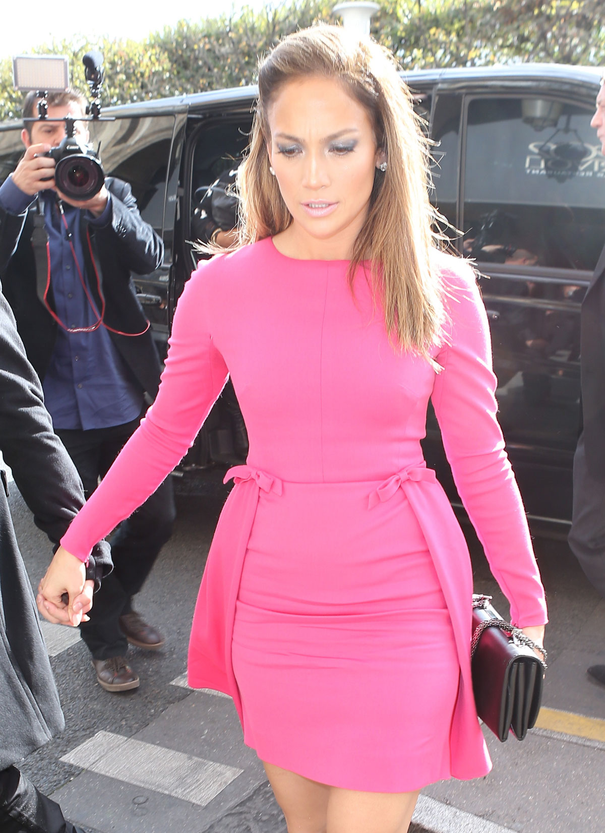 Jennifer Lopez At Valentino Fashion Show In Paris