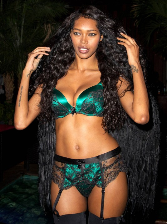JESSICA WHITE at 1st Annual Lingerie Halloween Party in New York