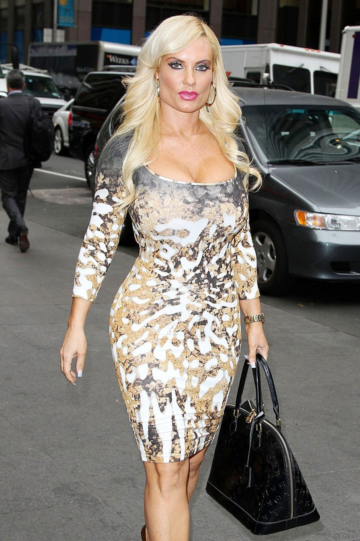 NICOLE COCO AUSTIN in Tight Dress Out and About in New York