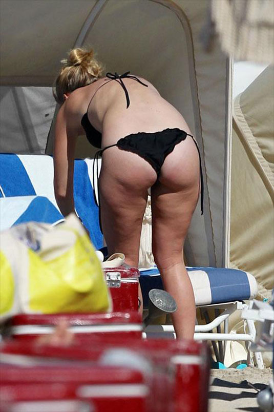 ALICE EVE in Bikini on the Beach in Miami