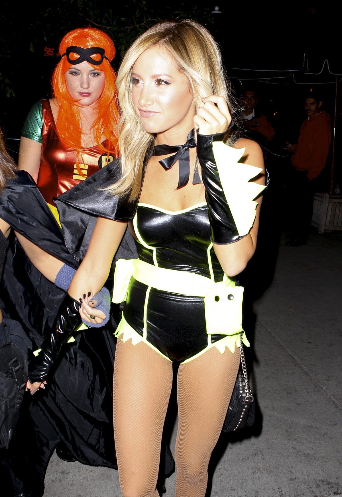 ASHLEY TISDALE at Halloween Party in Los Angeles - HawtCelebs ...