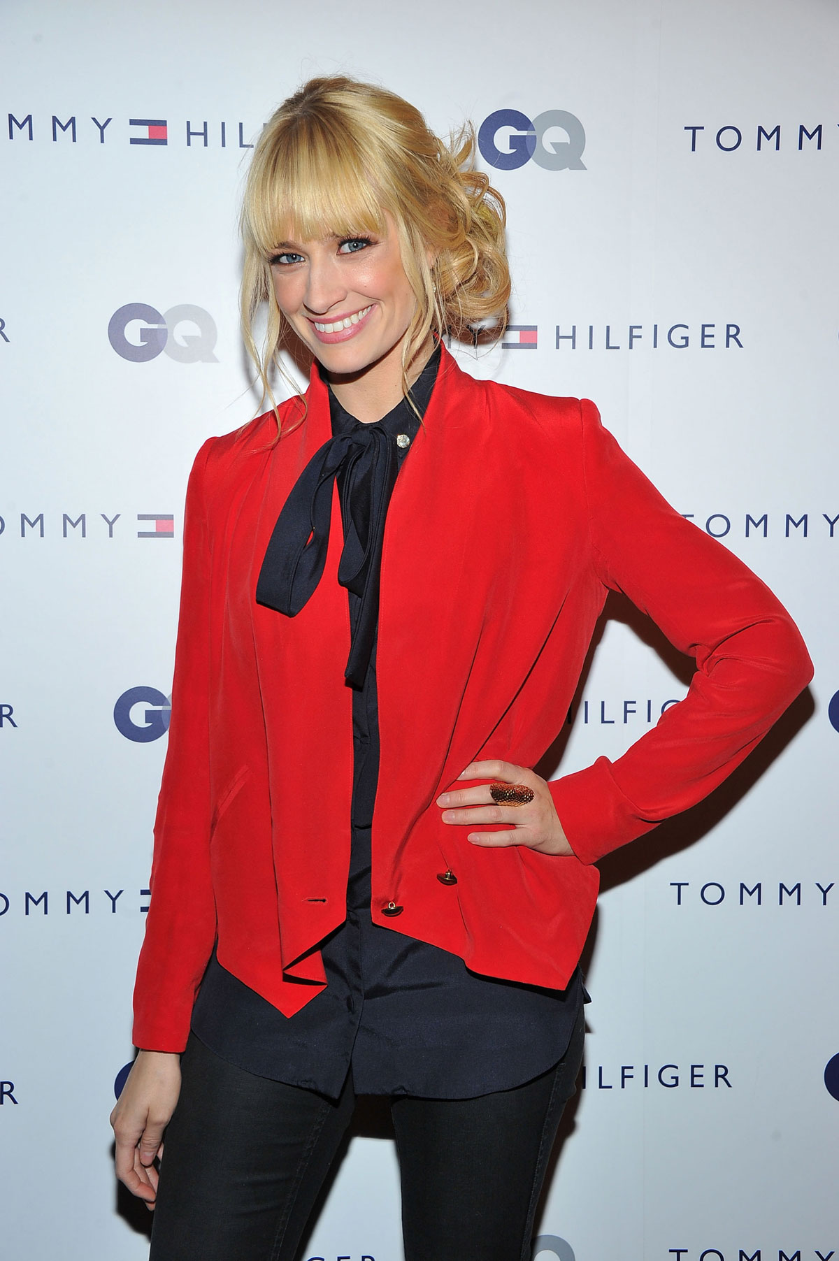 Beth behrs at tommy hilfiger gq men of new york party in new york