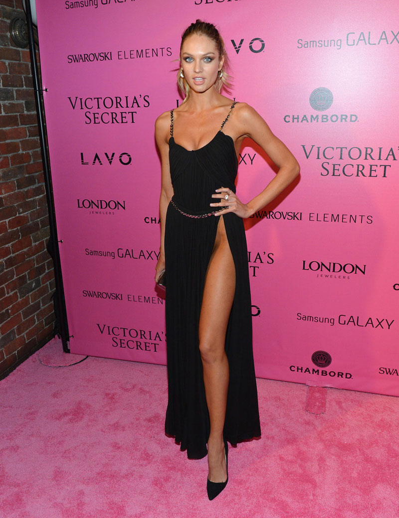 Candice swanepoel at 2012 victoria's secret fashion show in new york