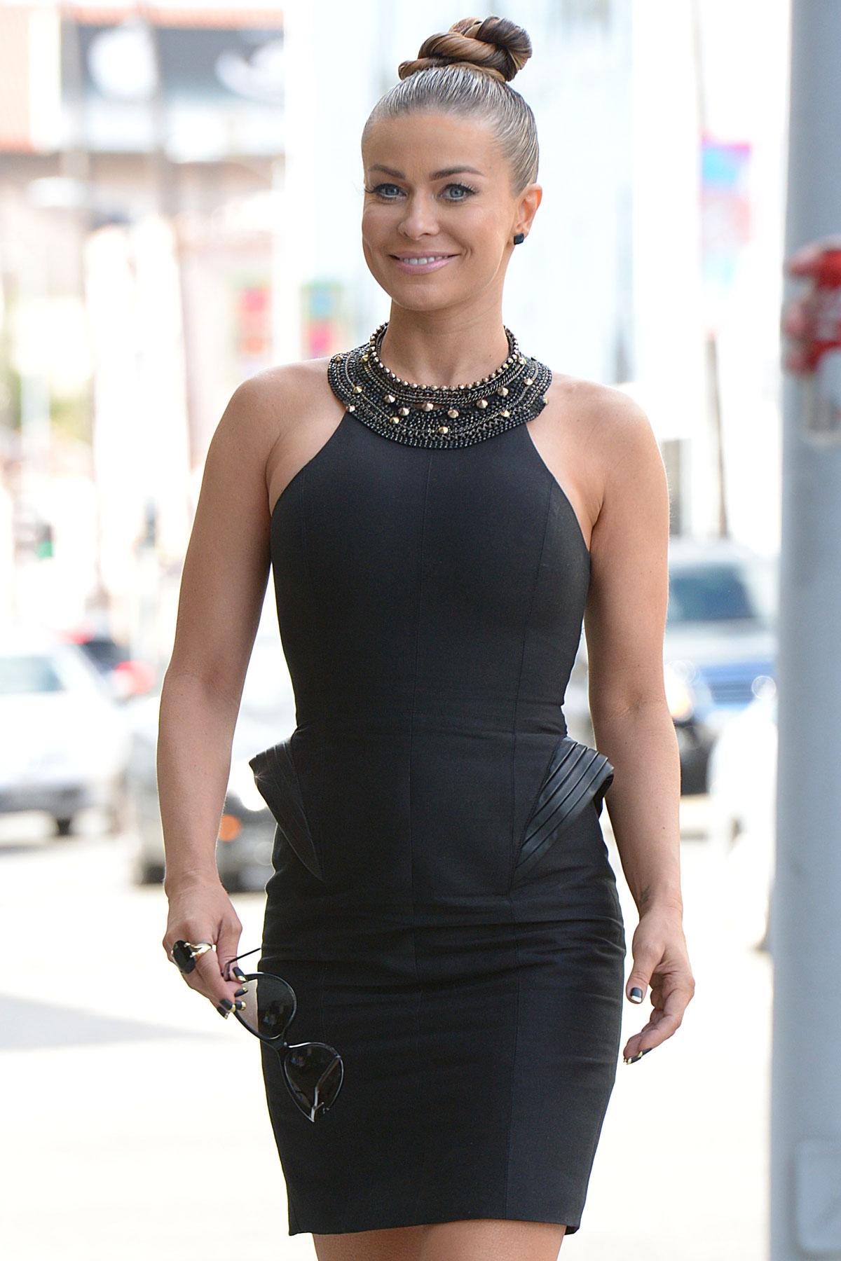 Black dress hollywood - Carmen Electra In Short Black Dress