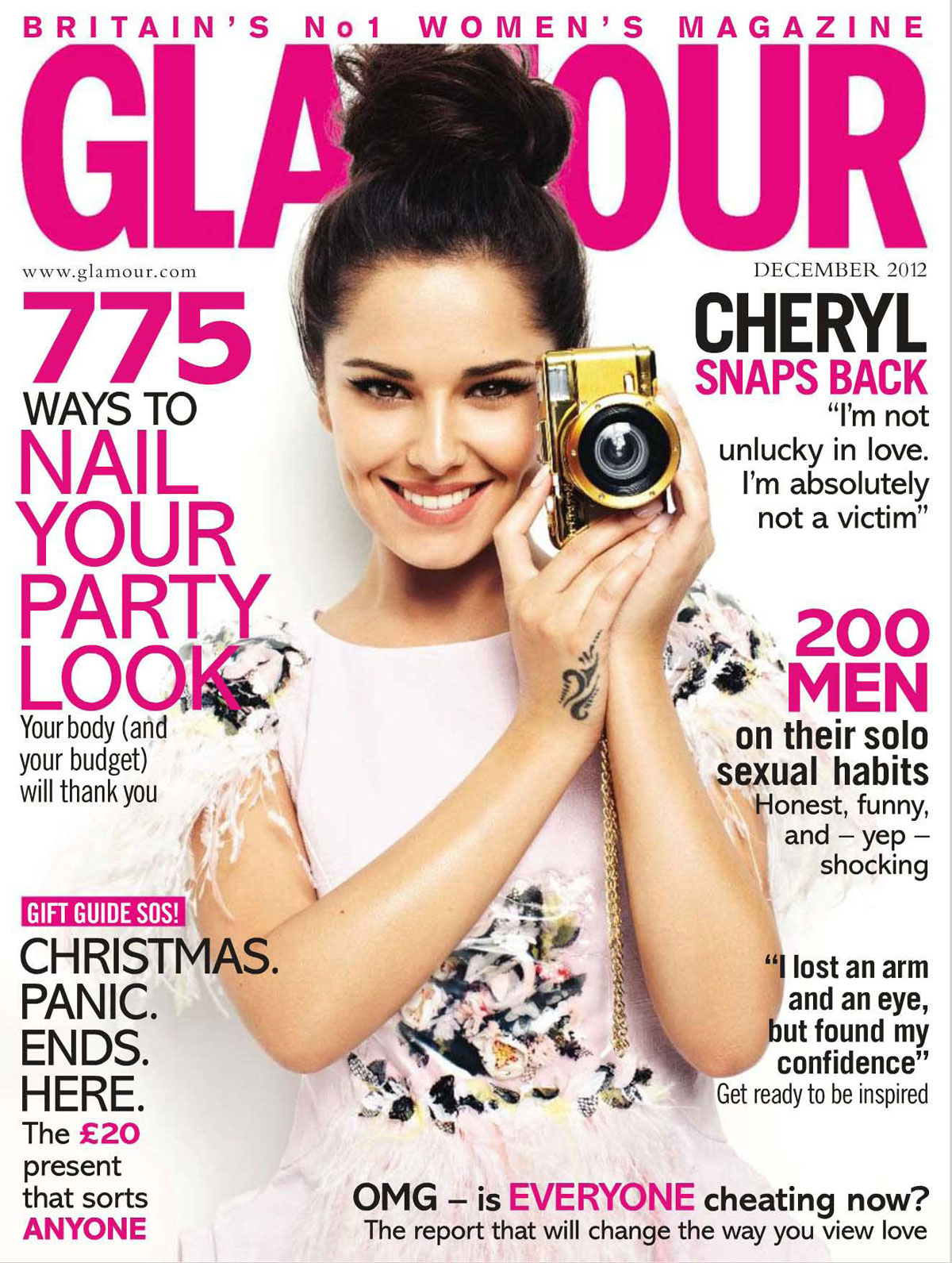 CHERYL COLE In Glamour Magazine, UK Decemeber 2012 Issue