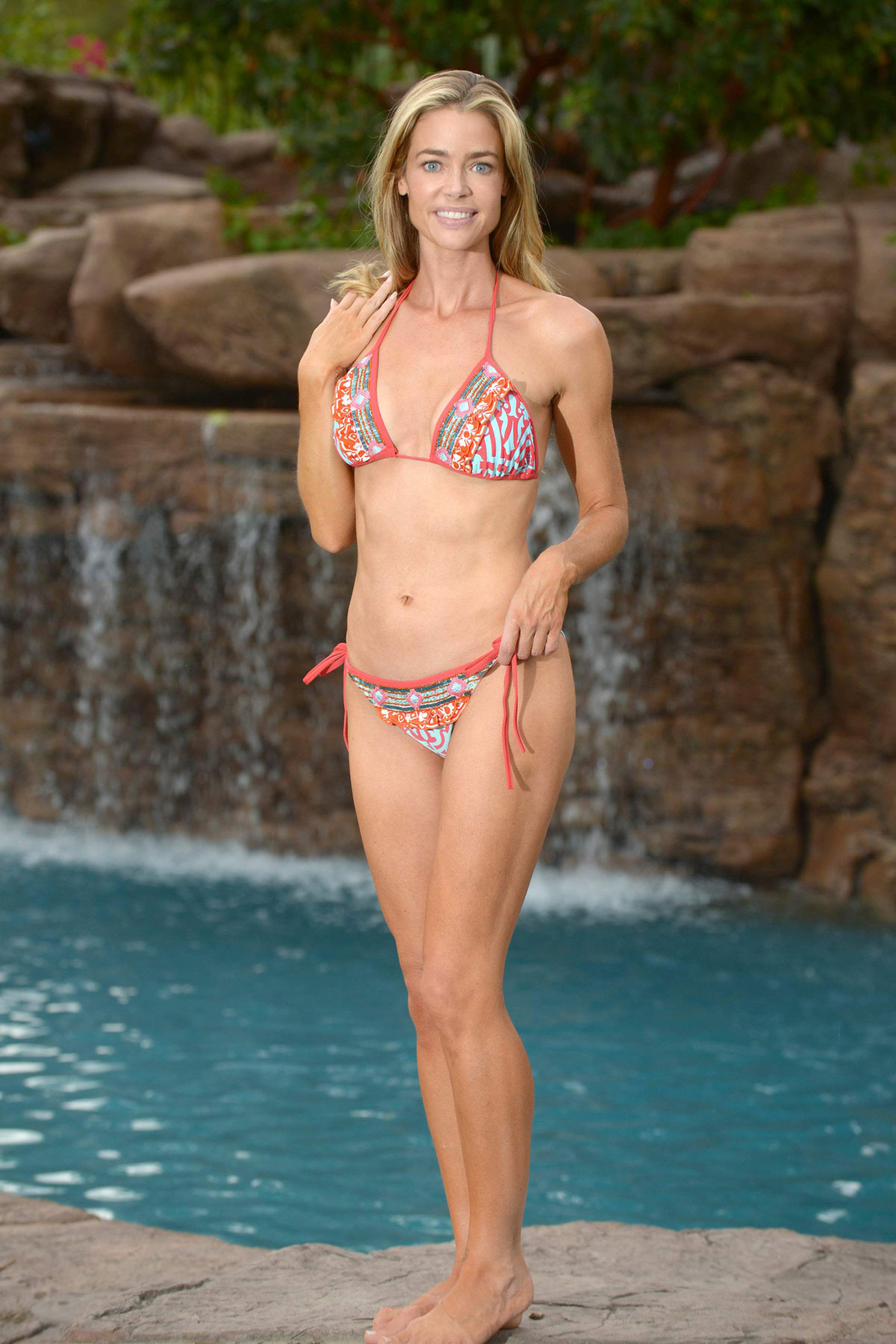 Denise Richards In Bikini On A Photoshoot At Her Home In