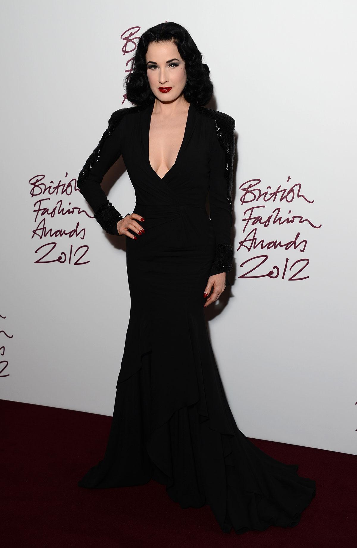 DITA Von TEESE at 2012 British Fashion Awards at the Savoy ... Dita Von Teese