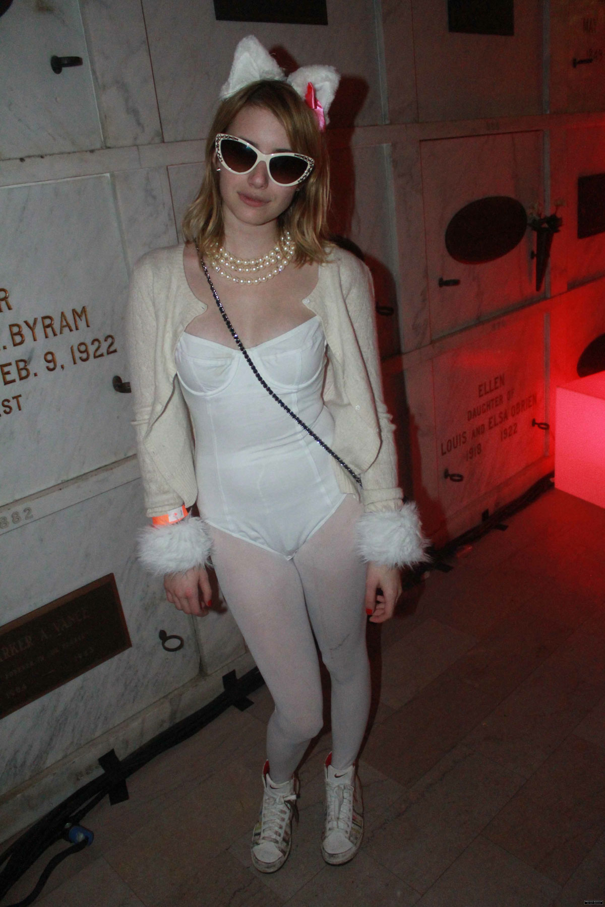 Emma Roberts At Halloween Party Hawtcelebs